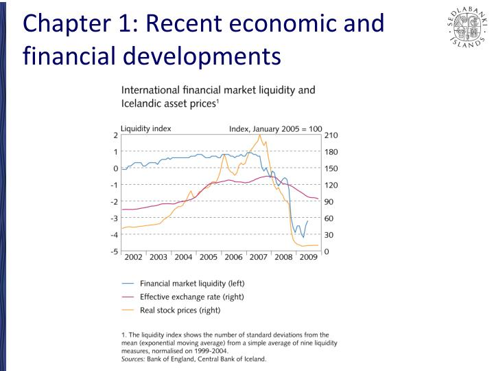 Chapter 1 recent economic and financial developments1