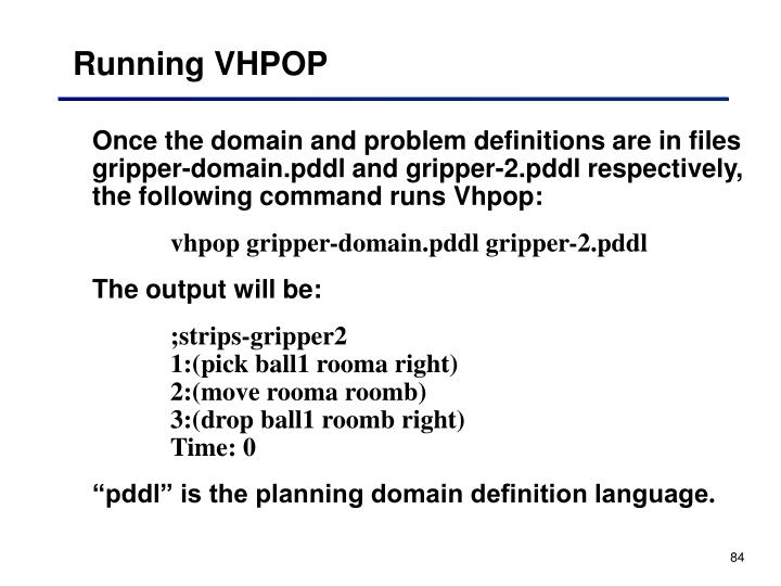 Running VHPOP