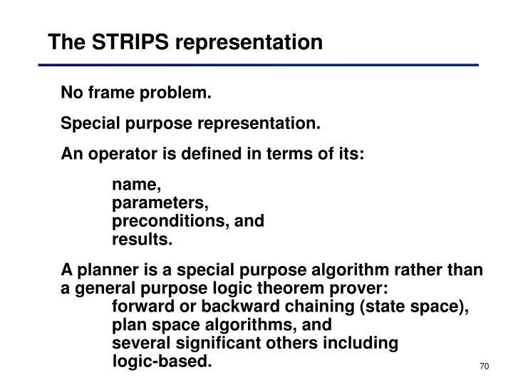 The STRIPS representation