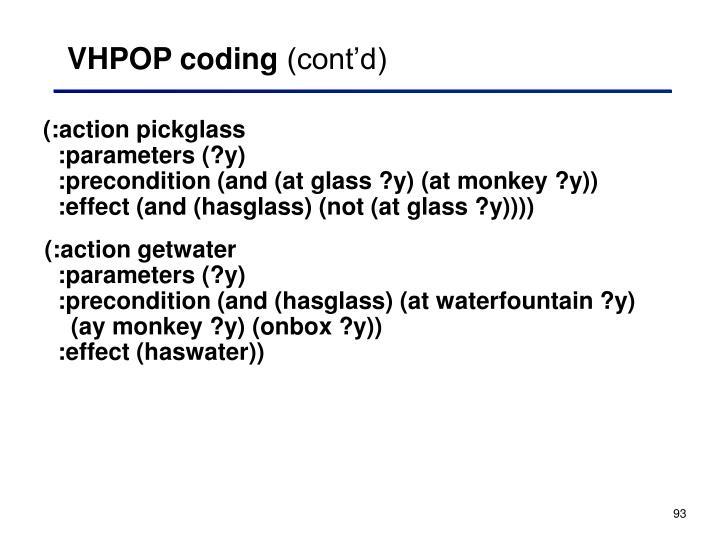 VHPOP coding