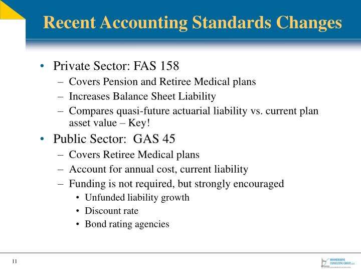 Recent Accounting Standards Changes
