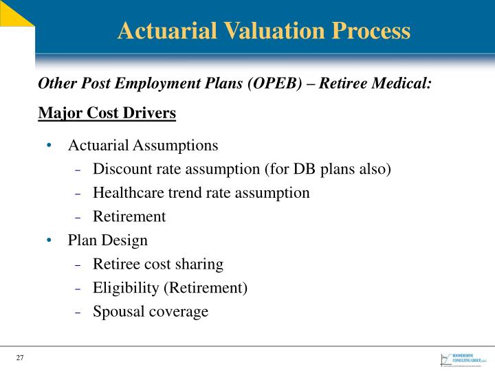 Actuarial Valuation Process