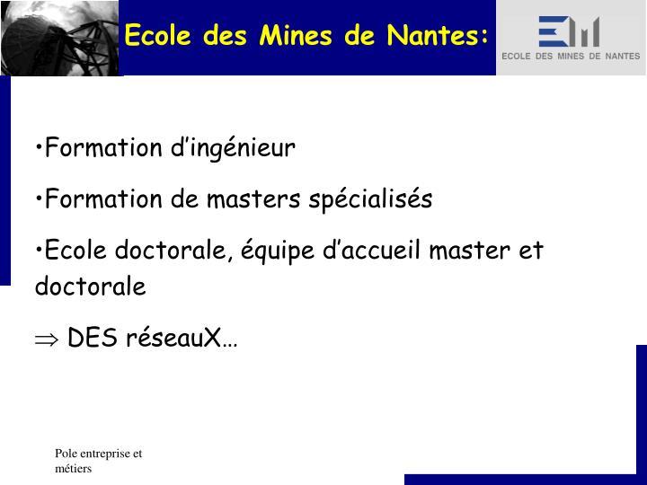 Ecole des Mines de Nantes: