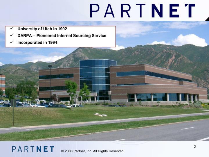University of Utah in 1992