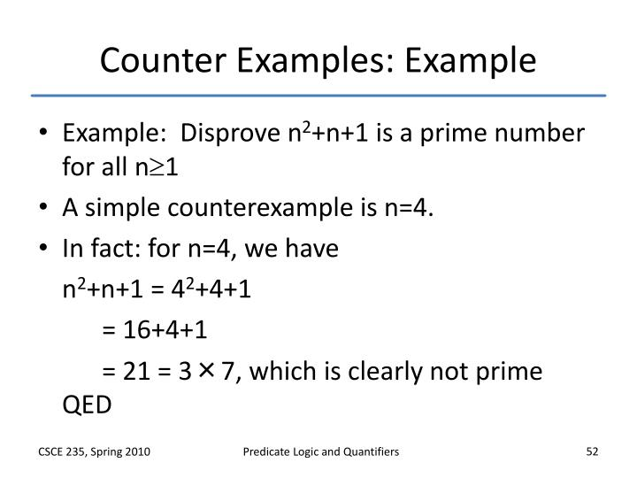 Counter Examples: Example