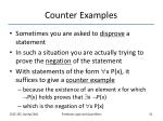 counter examples
