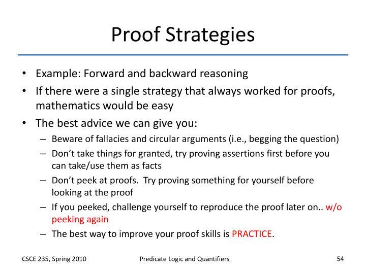 Proof Strategies