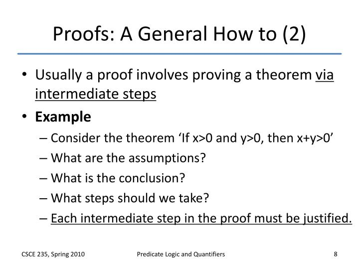 Proofs: A General How to (2)