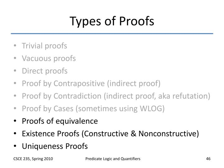 Types of Proofs