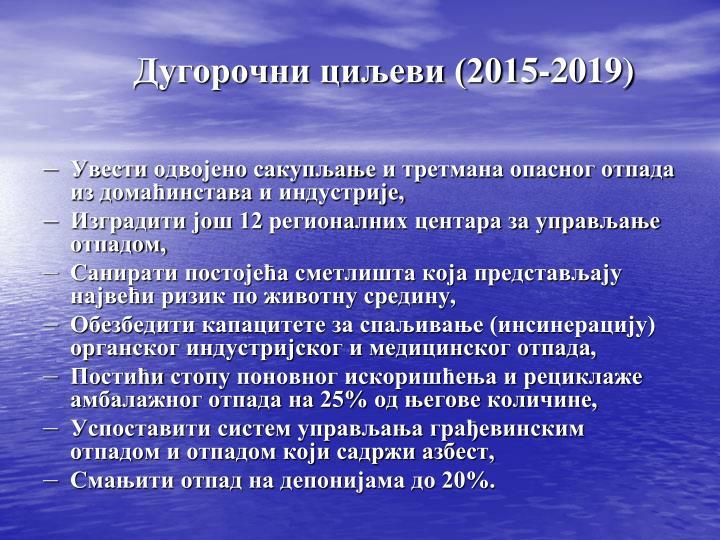Дугорочни циљеви (201