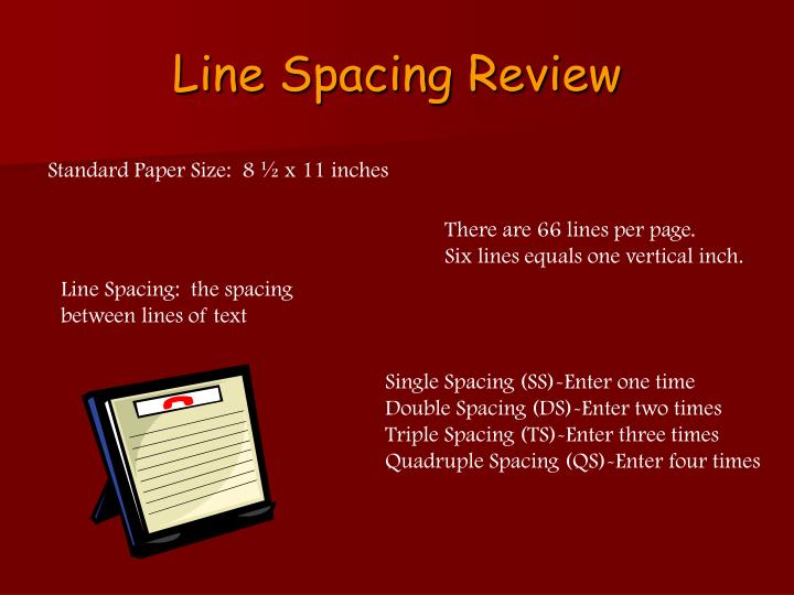 Line Spacing Review