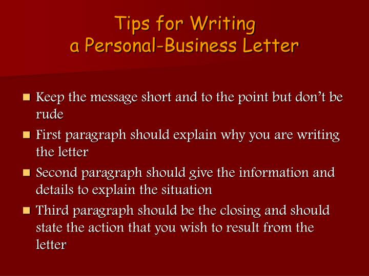 Tips for Writing
