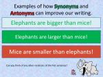 examples of how synonyms and antonyms can improve our writing