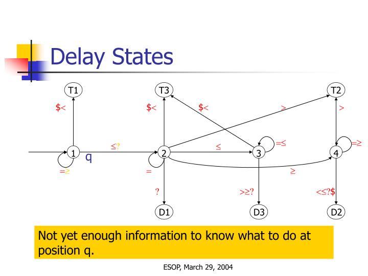 Delay States