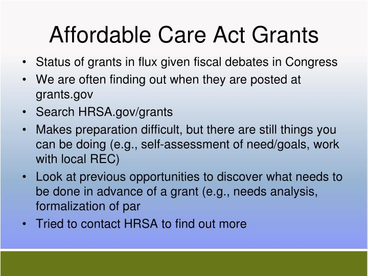 Affordable Care Act Grants