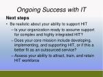 ongoing success with it2