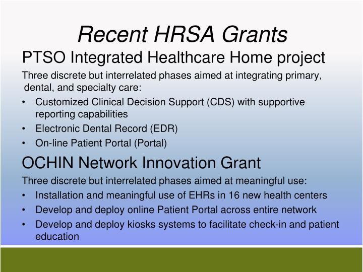 Recent HRSA Grants