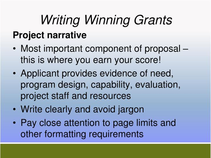 Writing Winning Grants