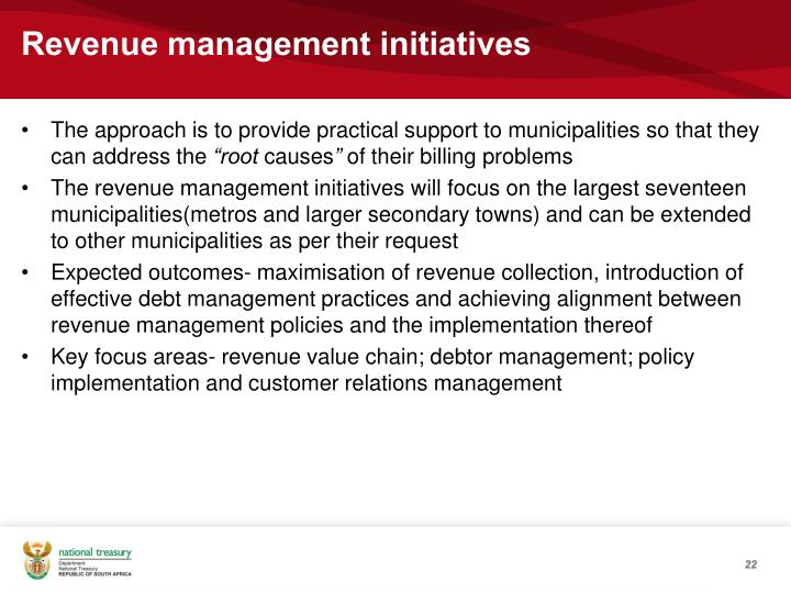 Revenue management initiatives