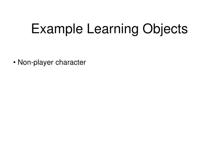 Example Learning Objects