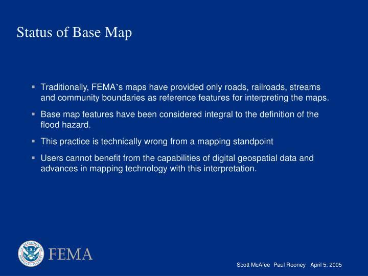 Traditionally, FEMA