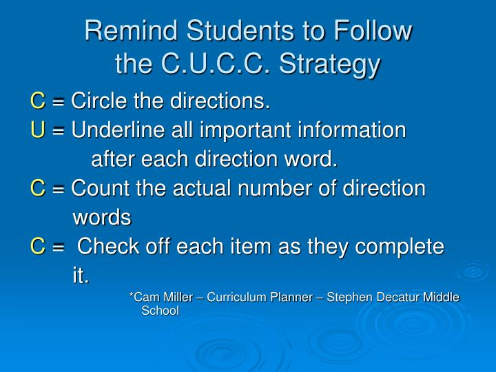 Remind Students to Follow