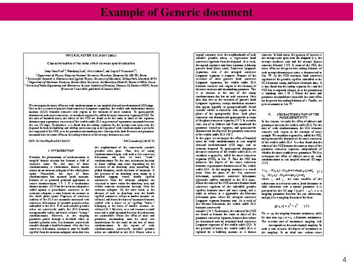 Example of Generic document