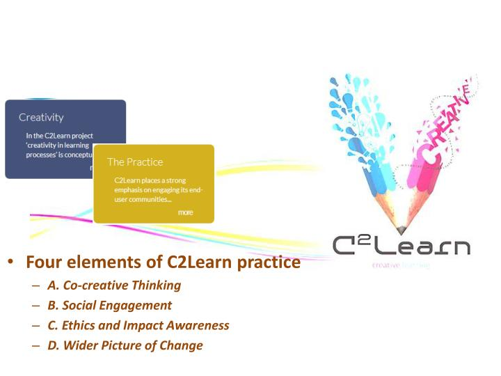 Four elements of C2Learn practice