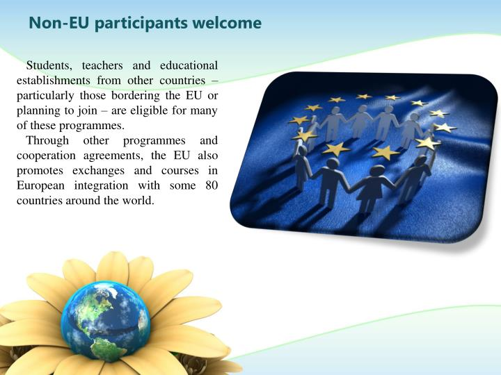 Non-EU participants welcome