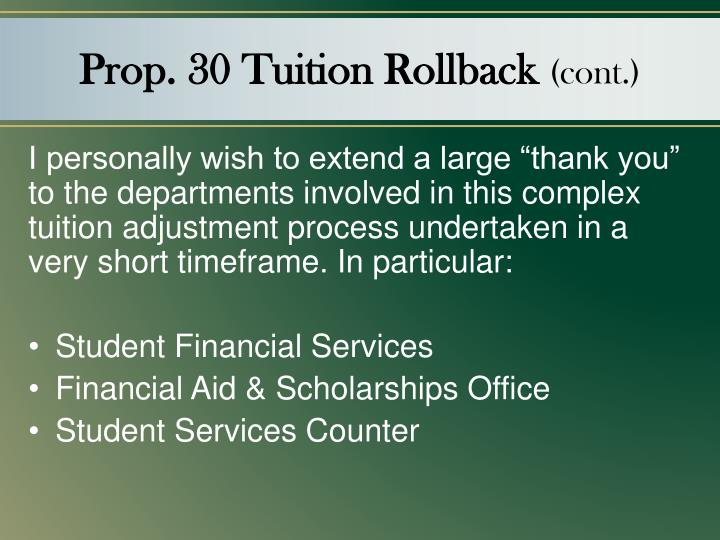 Prop. 30 Tuition Rollback