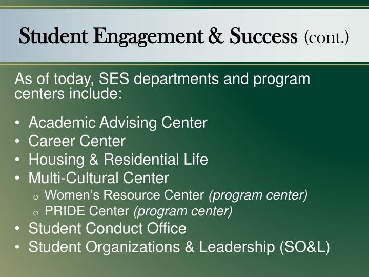 Student Engagement & Success
