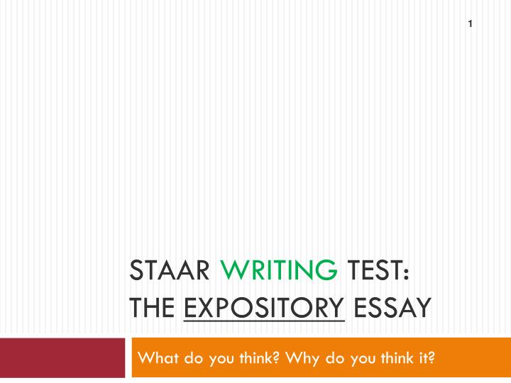 staar essay writing paper English i — writing expository writing rubric texas education agency student assessment division winter 2010 staar english i expository writing score point 1 the essay represents a very limited writing performance  the essay represents a basic writing performance.