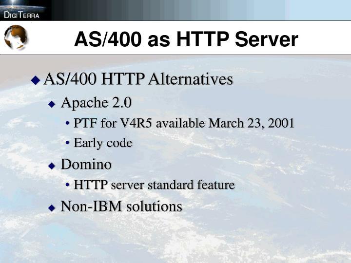 AS/400 as HTTP Server
