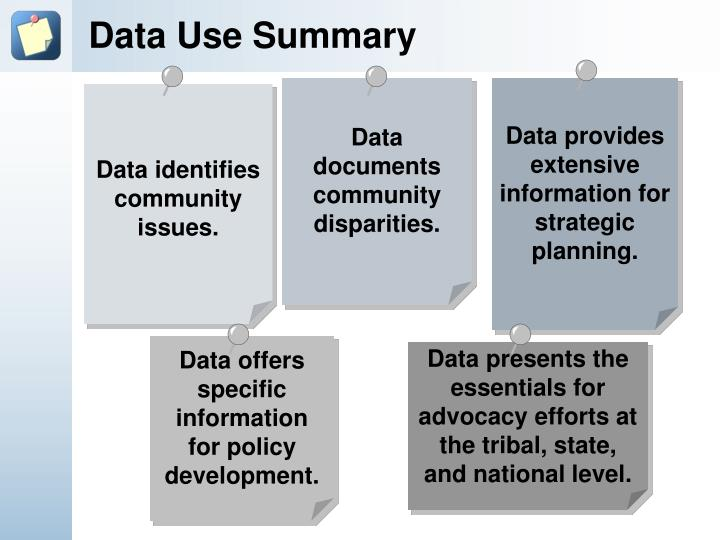 Data Use Summary