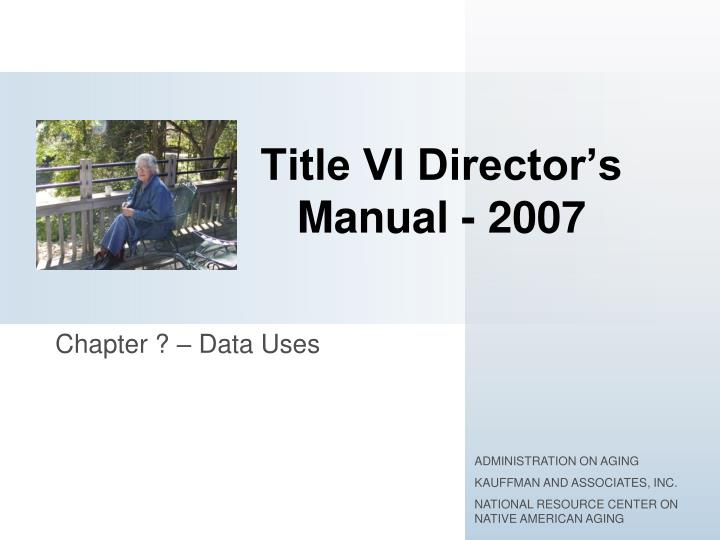 Title vi director s manual 2007
