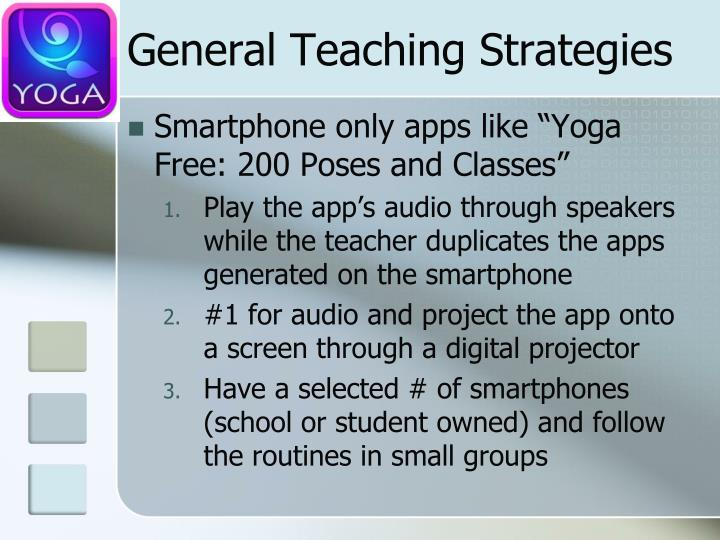 General Teaching Strategies