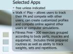 selected apps free unless indicated