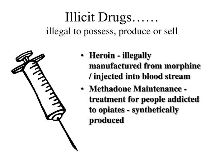 Illicit Drugs……