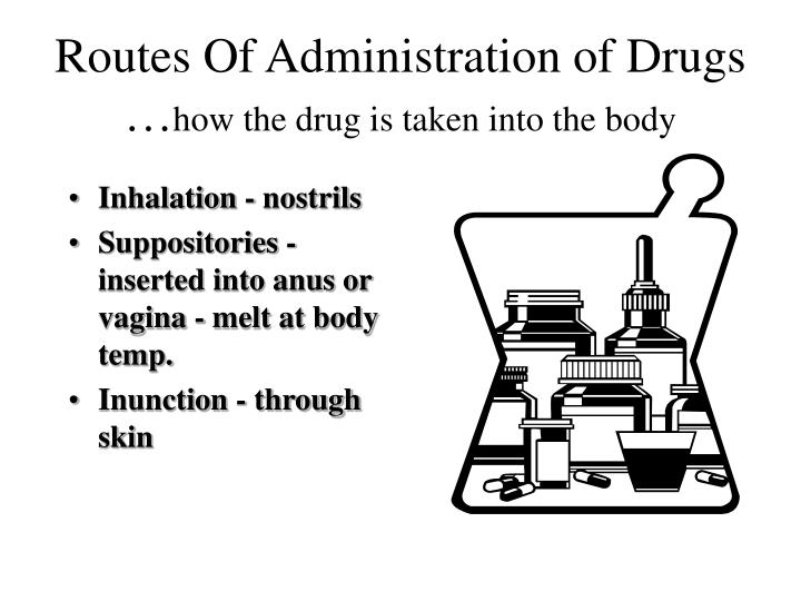 Routes Of Administration of Drugs …