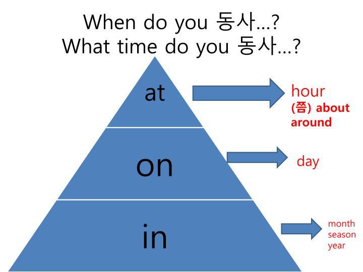 When do you