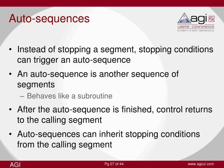 Auto-sequences