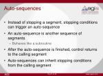 auto sequences