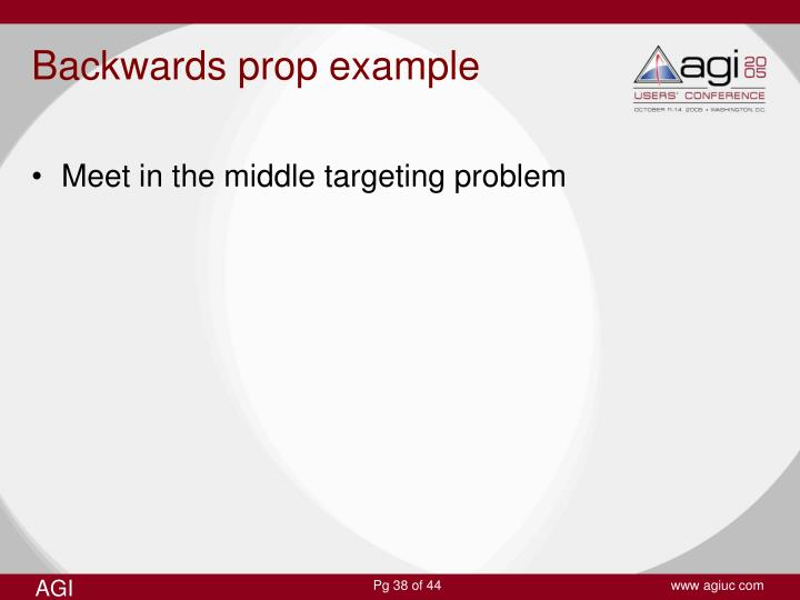 Backwards prop example