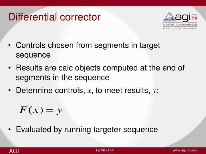 Differential corrector