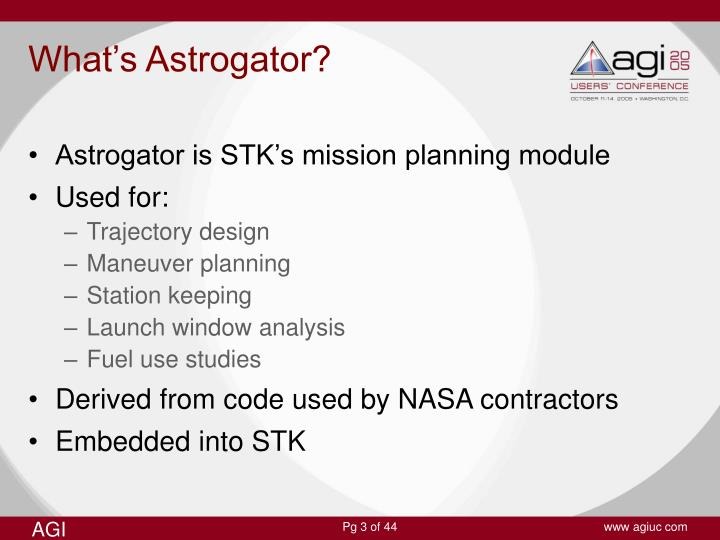 What's Astrogator?