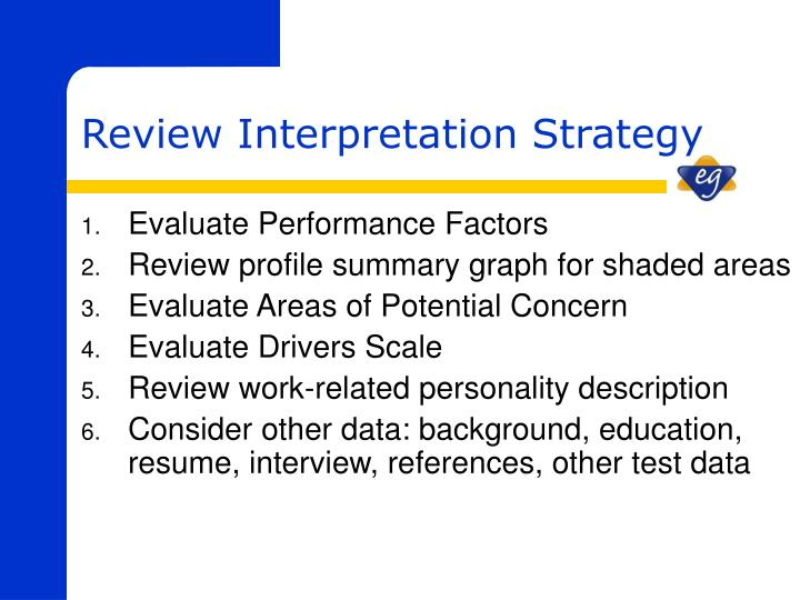 Evaluate Performance Factors