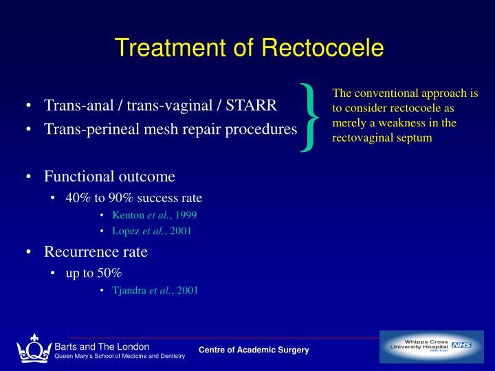 Treatment of Rectocoele