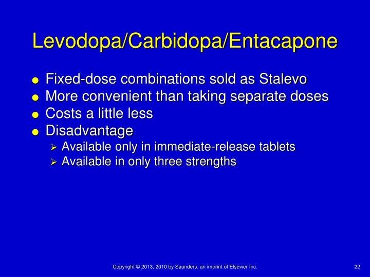 Levodopa/Carbidopa/Entacapone