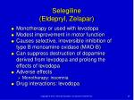 selegiline eldepryl zelapar