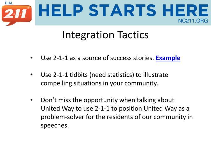 Integration Tactics